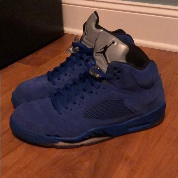 "68040b61a300 Jordan Other - Air Jordan Retro 5 ""Blue Suede"""